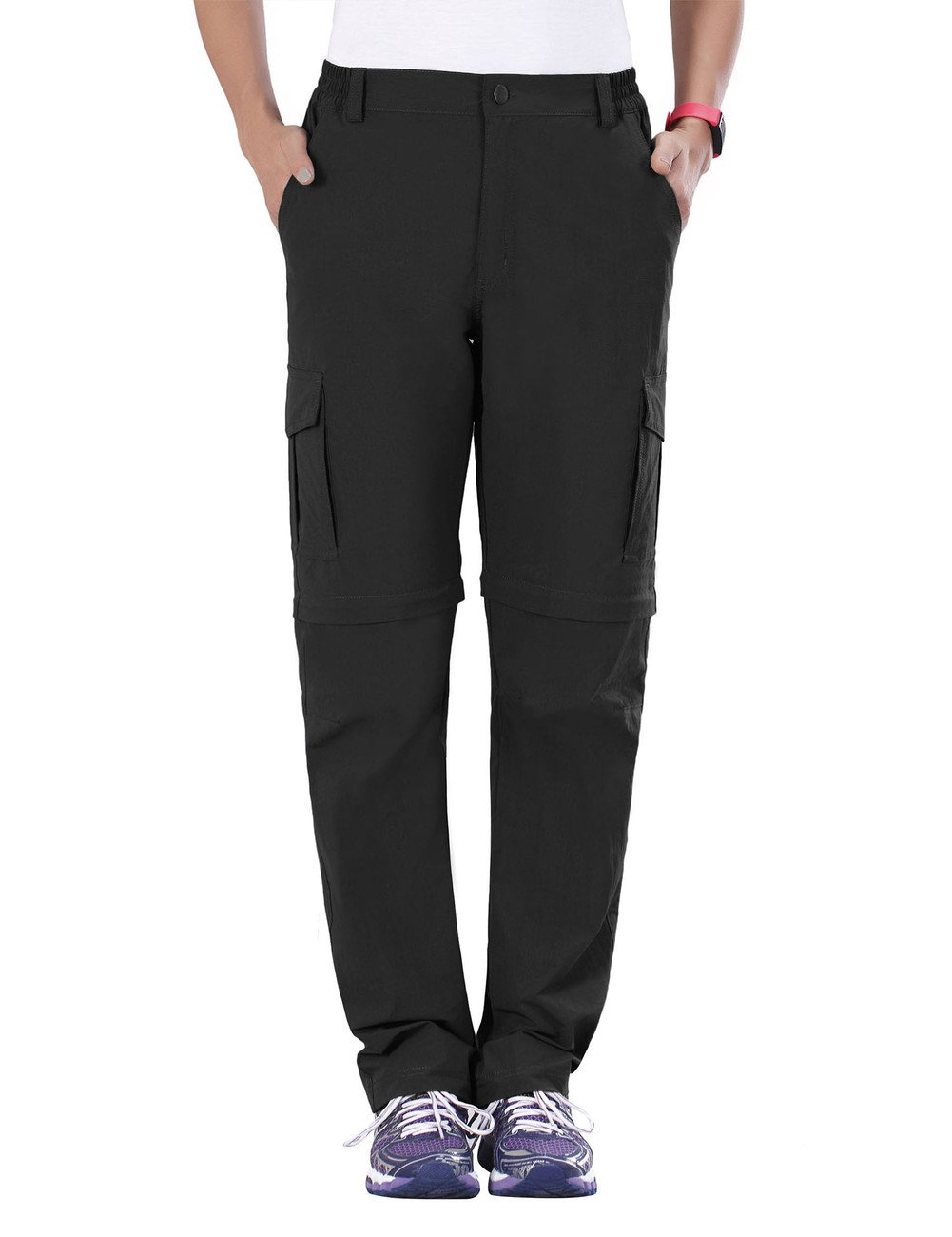 unitop Women's Quick Dry Convertible Climbing Pants Black L