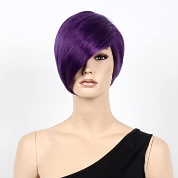 "Stfantasy Wigs for Women Short Straight Heat Resistant Synthetic Hair 12"" 78G with Bangs Wig"