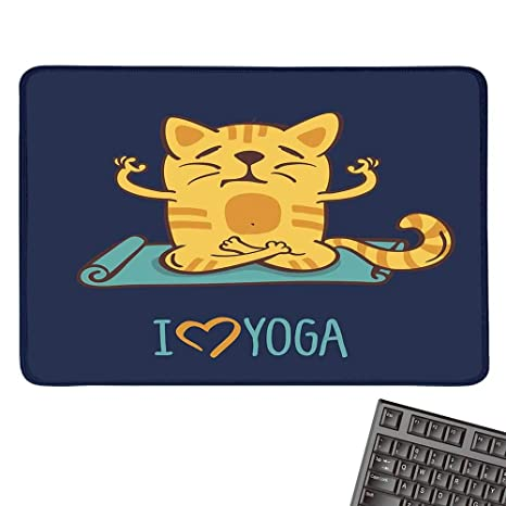 Amazon.com : Animallarge Mouse padLove Yoga Theme Cute ...