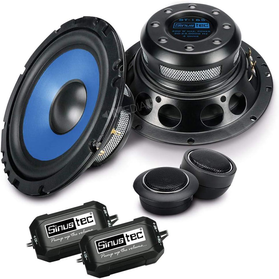 Sinustec ST-165 Front//Heck 16,5cm//165mm 2-Wege Kompo Auto Lautsprecher//Boxen//Speaker kompatibel f/ür Hyundai i40 ab 2011