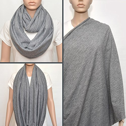 Gray nursing cover scarf, nursing cover, nursing scarf, infinity scarf, breastfeeding cover, nursing infinity scarf, Baby Shower Gift