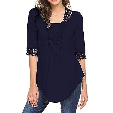 dad5c245ede47 Camisa Cuello Blusa de túnica Mujer