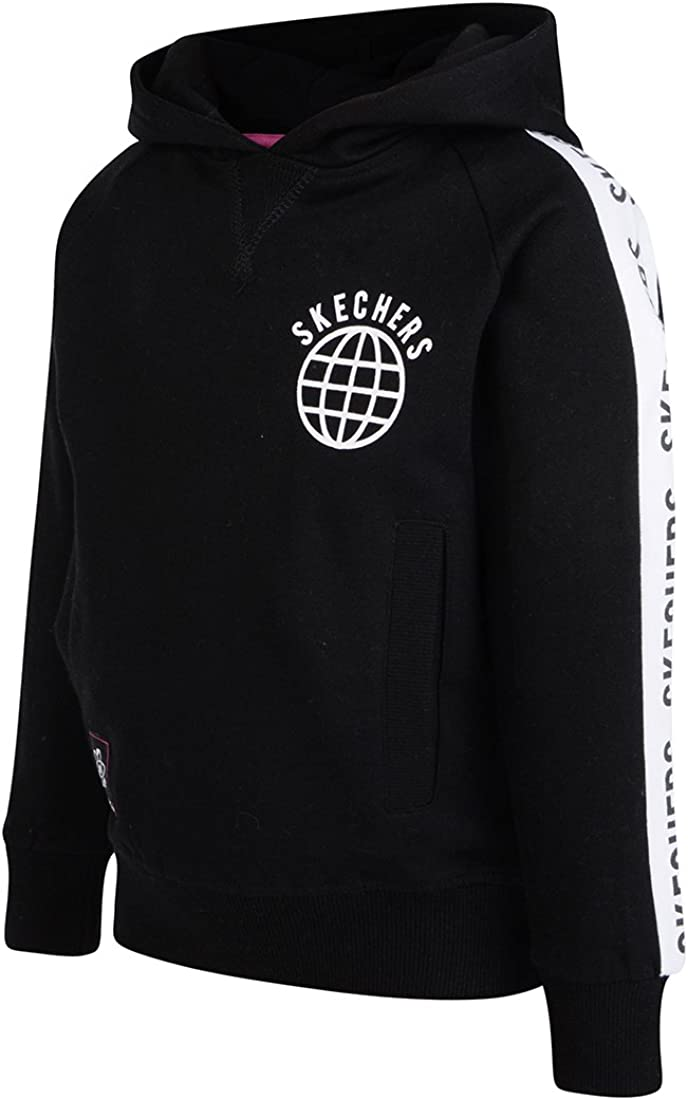 Kids Girls Plain Pull Over Fleece Hoodies Full Length Sleeve Sweatshirt Hoody Top