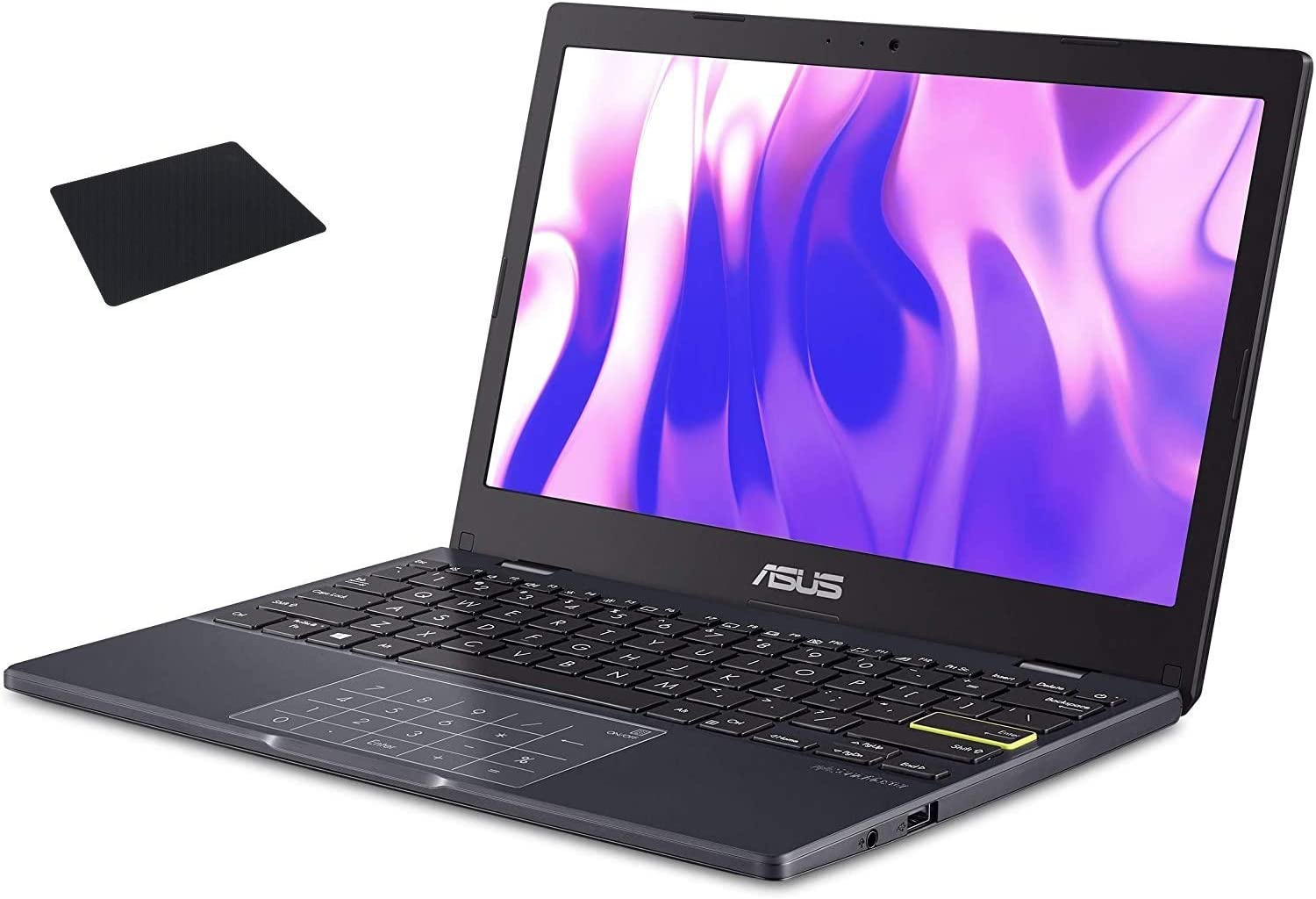 """ASUS L210 Laptop 11.6"""" HD Intel N4020 4GB RAM 64GB eMMC Flash Storage, One Year Office 365 Personal, L210MA-DB01 with Mouse Pad"""
