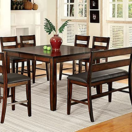 247SHOPATHOME IDF 3187PT 8PC Dining Room Sets, 6 Ch And 1