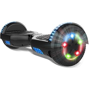 COLORWAY 6.5 Patinete Monopatín Eléctrico Scooter Auto-Equilibrio con CE Certificado, Bluetooth y Colorido LED
