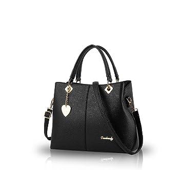 77934795b21a Nicole&Doris 2017 female bag new simple fashion big bag handbag women's  singles Bag Messenger Bag women purse(Black): Amazon.co.uk: Clothing