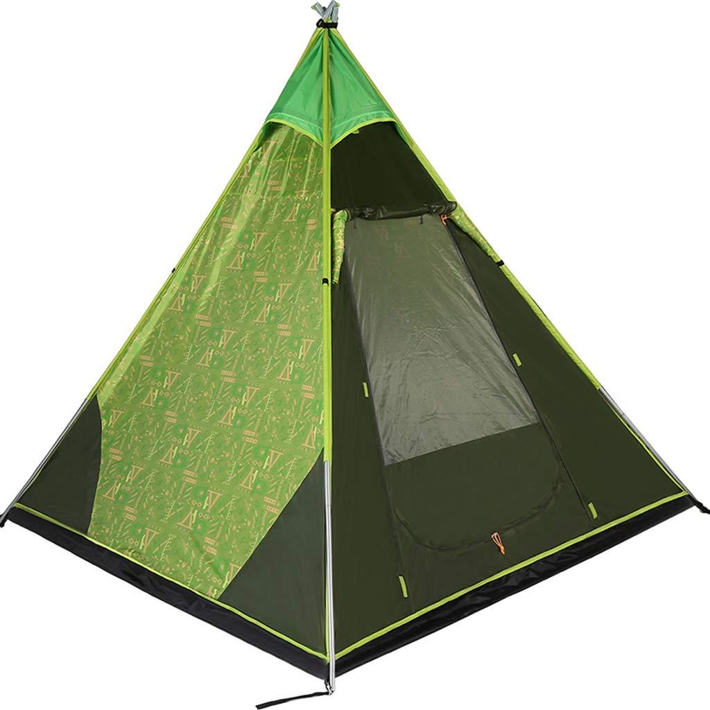 Rnalley Pyramid Tent Outdoor-Zelt 3-4 Personen Camping Single-Layer Regendichtes Zelt