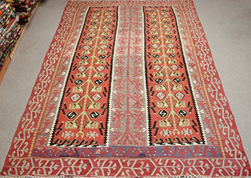 Turkish Vintage Kilim rug 10,7x5,9 feet Area rug Old Rug Bohemian Kilim Rug Floor rug Sofa Decor Rustic Kilim Rug