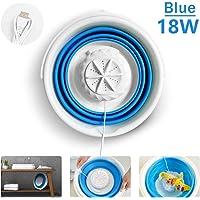 SGQCAR Mini Turbo Washing Machine,Portable Folding Washing Machine,USB Portable Washing Machine with Foldable Tub for Apartments Dorms RV Trip 18W-Blue