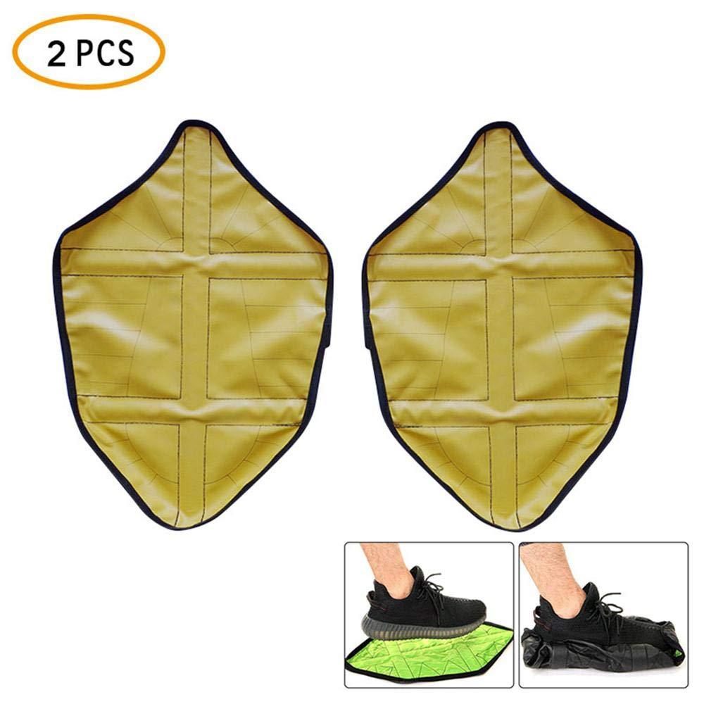 FOONEE Automatique Couvre-Chaussures, 1Paire Mains Libres étape en Chocs Couvre-Chaussures Housse de Coffre étanche pour protéger au Sol
