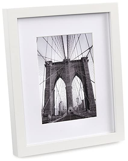 Amazon.com - FHE Group Gallery Picture Frame, 8 by 10 Inches, White ...