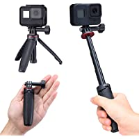 Extendable Selfie Stick for Gopro, Portable Vlog Selife Stick Tripod Stand for Gopro Hero 8/7/6/5 Black/Gopro Max DJI…