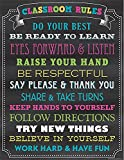Teacher Created Resources Chalkboard Brights Classroom Rules Chart (7565)
