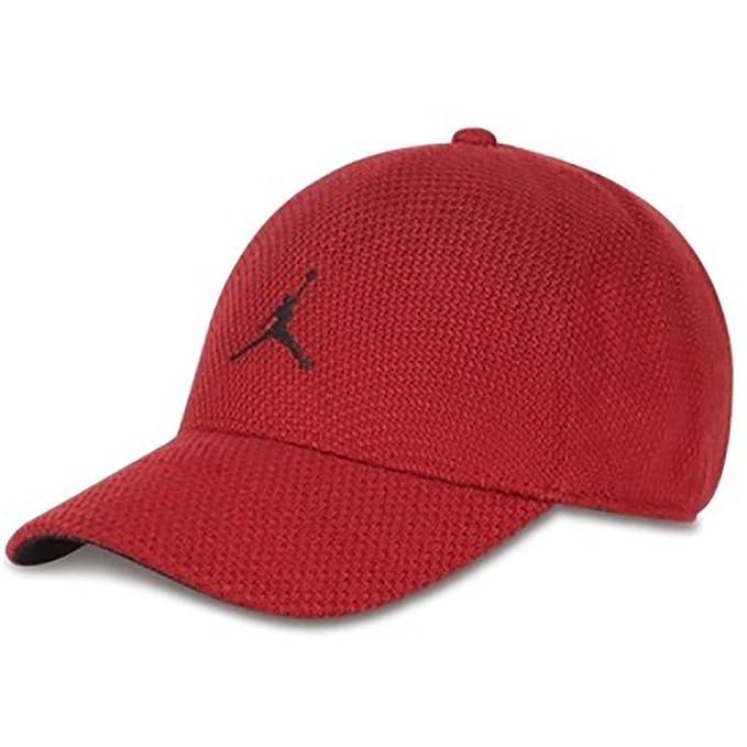 63436eefa2796 Jordan Gorra Jumpman Knit Flex rojo negro talla  S M