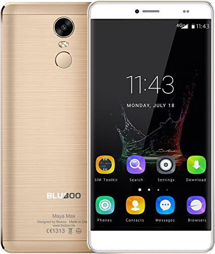 Bluboo Maya Max - 4G Lte Smartphone 6.0 Pulgadas Hd Pantalla 1280 720Pixels Mtk6750 Octa-Core 1.5Ghz 3Gb Ram 32Gb Rom 13.0Mp+5.0Mp Cámara Android 6.0 4200Mah Batería Huella Digital Type-C Gps: Amazon.es: Electrónica