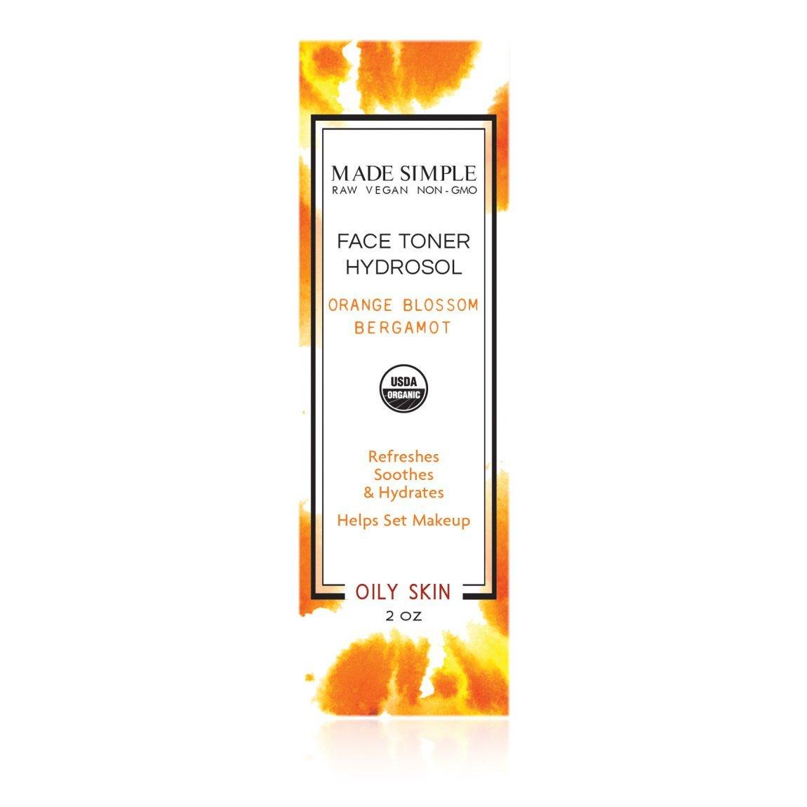 Orange Blossom Bergamot Face Toner (Certified Organic)
