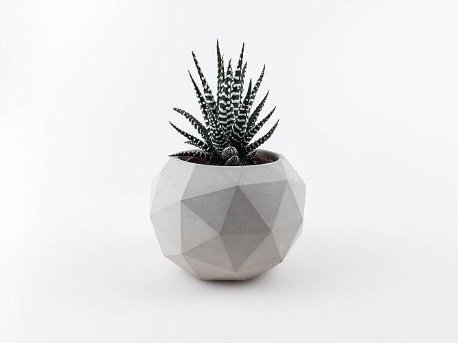 Stylische Blumentöpfe geometrischer blumentopf aus beton amazon de handmade