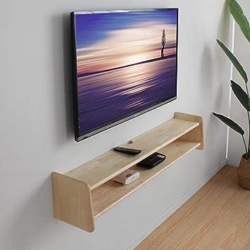 Mueble de televisión de pared Estante de audio y video Estante de pared de madera maciza