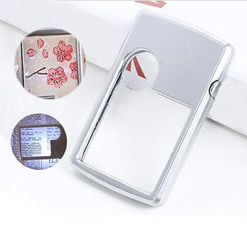 Amazon.com: MUYU Lupa de mano con zoom de luz LED en 3 x 6 x ...