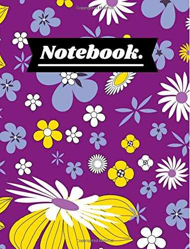 Download Notebook.: Cute Purple Floral Design Notebook Journal for Girls & Women to write in, Great Notebook for Class, School, College, Office, Private Notes pdf