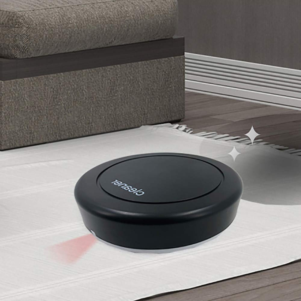 DICPOLIA Cleaning Wash Robot Vacuum Cleaner with Max Power Suction, Alexa Connectivity, App Controls, Intelligent for Hard Surface Floors & Thin Carpets (Black)
