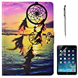 iPad Mini 4 Case, Gift-Hero(TM) Slim Fit PU Leather Wallet Case Folio Stand [Multi-Angle Viewing][Auto Wake/Sleep] Smart Cover for Apple iPad Mini 4 (Dreamcatcher)
