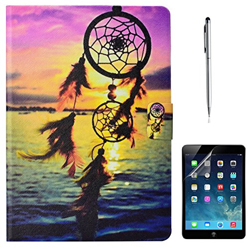 iPad Mini 4 Case, Gift-Hero(TM) Slim Fit PU Leather Wallet Case Folio Stand [Multi-Angle Viewing][Auto Wake/Sleep] Smart Cover for Apple iPad Mini 4 (Dreamcatcher) by Gift-Hero