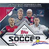 2018 Topps MLS Major League Soccer MASSIVE 24 Pack Factory Sealed Retail Box with 144 Cards! Look for Cards, Parallels, Relics & Autographs of all the Biggest MLS Stars! WOWZZER!
