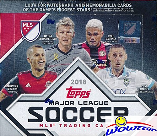 Mls Soccer Trading Cards - 2018 Topps MLS Major League Soccer MASSIVE 24 Pack Factory Sealed Retail Box with 144 Cards! Look for Cards, Parallels, Relics & Autographs of all the Biggest MLS Stars! WOWZZER!