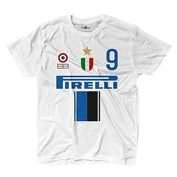 KiarenzaFD Camiseta Camiseta Fútbol Vintage Inter 9 ETO Temporada 09 – 10 ° 2 Shirts,