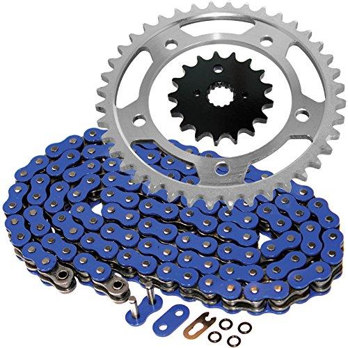 Caltric Blue O-Ring Drive Chain & Sprockets Kit Fits SUZUKI 1000 SV1000 SV-1000 SV1000S 2003-2007
