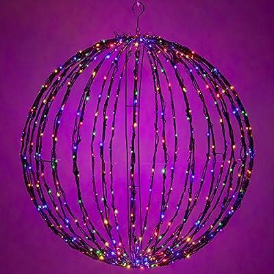 Amazon.com : LED Light Ball - Indoor / Outdoor Christmas Light Balls ...