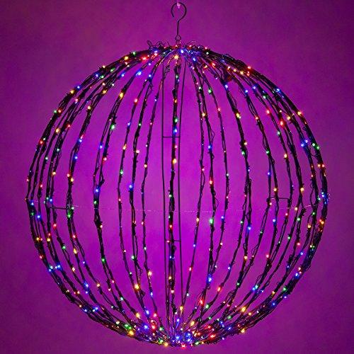 Wintergreen-Lighting-LED-Light-Ball--IndoorOutdoor-Christmas-Light-Balls-Light-Spheres-OutdoorSphere-Light-Fold-Flat-Metal-Frame