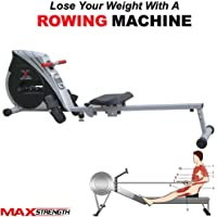 Max Strength ¨ Magnetic Folding Rowing Machine Home Gym Rower Fitness Cardio