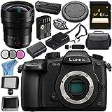 Panasonic Lumix DC-GH5 DC-GH5KBODY Mirrorless Micro Four Thirds Digital Camera Leica DG Vario-Elmarit 8-18mm f/2.8-4 ASPH. Lens DMW-BGGH5 Battery Grip Bundle