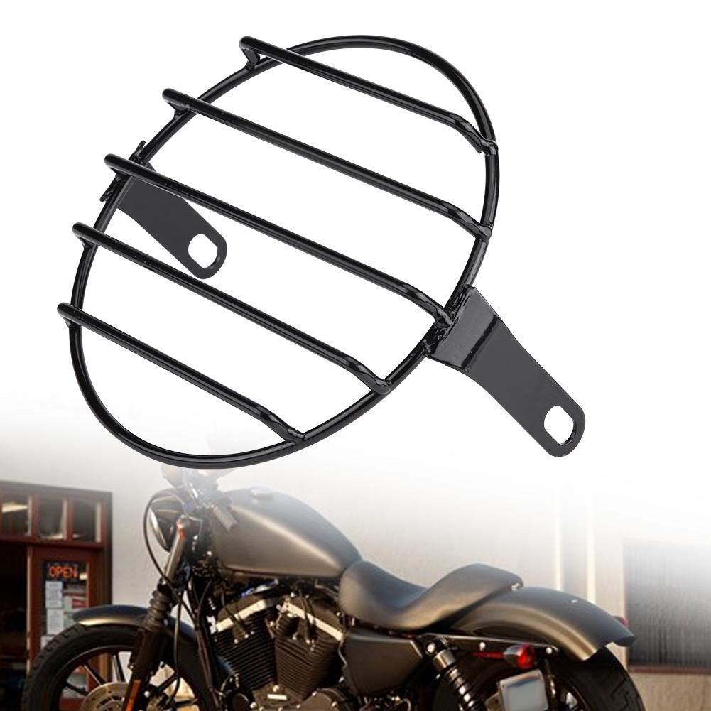 Bar Cubierta de la Parrilla del Faro 6.5Motocicleta para Motocicletas Bobber Chopper Dirt Bike Soporte de Faro Moto Montaje