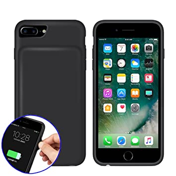 hot sale online 5e9eb 7f3ca REDGO iPhone 7 6 6s Smart Battery Case, 4500mah Battery Case, Rechargeable  Extended Battery Charging Case for iPhone 7 (4.7 inch), Soft Silicone Back  ...