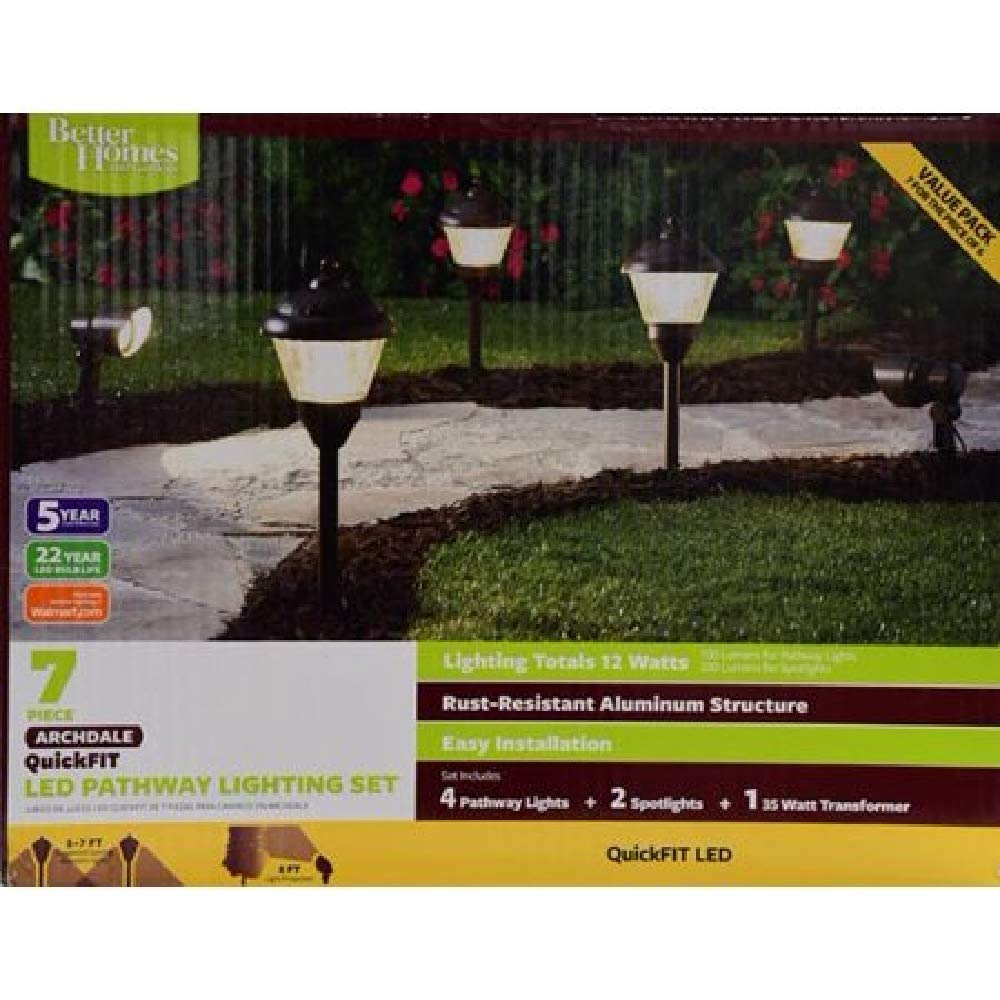 Amazon.com : Archdale Quickfit LED Pathway Lights - 7 Piece Set! : Garden & Outdoor