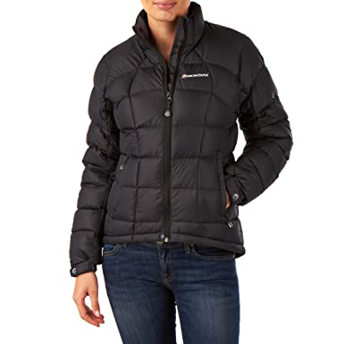 Montane Womens Anti-Freeze Down Jacket Top Black Sports Outdoors Full Zip Hooded