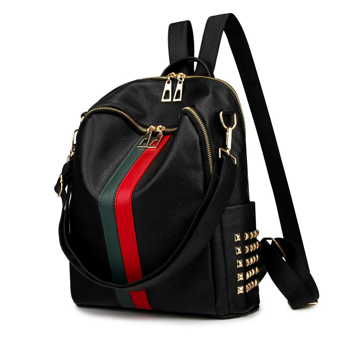 28d88dbafb Mynos Backpack Bag Women Mini Rucksack Travel Bookbag For Girls Backpack  Leather Bag Ladies Purse And Handbags (Black)  Amazon.co.uk  Shoes   Bags