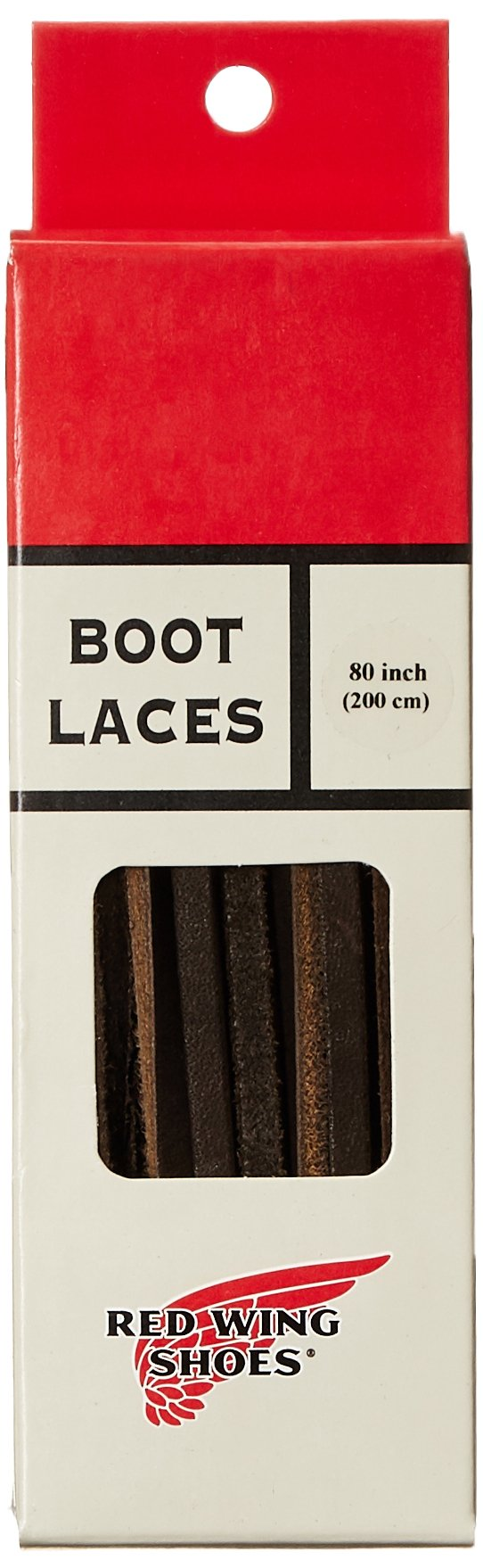 Red Wing Heritage Leather Shoe Lace, Dark Coffee,80 inch