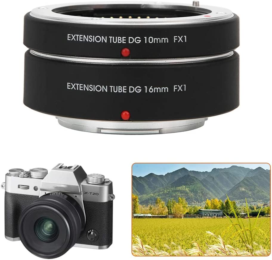FX1 Auto Focus Macro Extension Tube 10mm+16mm for Fujifilm FX Mount Camera V BESTLIFE Lens Adapter Ring