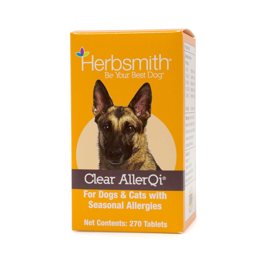 Herbsmith Clear AllerQi – Allergy Aid for Cats and Dogs – Pet Allergy Support – Anti Itch Pills for Dogs and Cats – 270 Tablet
