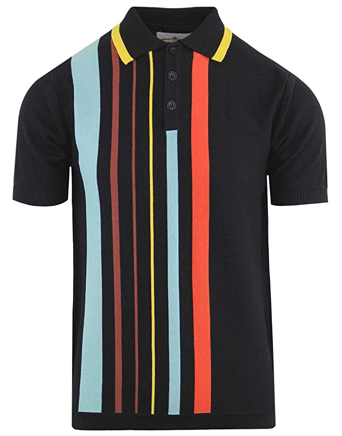 1950s Men's Clothing Madcap England Bauhaus Mens Mod 50s 60s Style Knitted Polo Shirt £34.99 AT vintagedancer.com