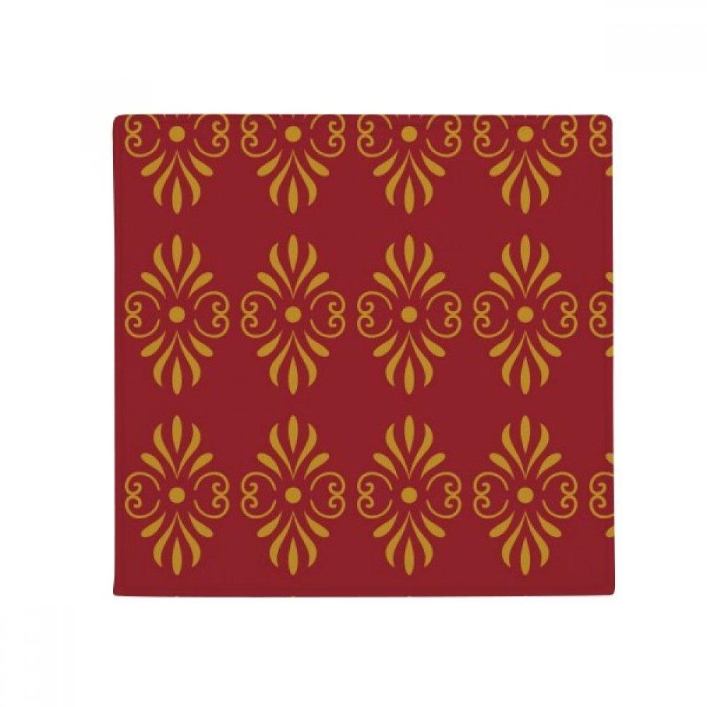 DIYthinker Thailand golden Red Decorative Pattern Anti-Slip Floor Pet Mat Square Home Kitchen Door 80Cm Gift