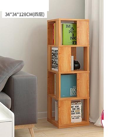 half off 833fc 08437 Amazon.com: JX&BOOS Swivel Bookshelf,Floor Rack Simple ...