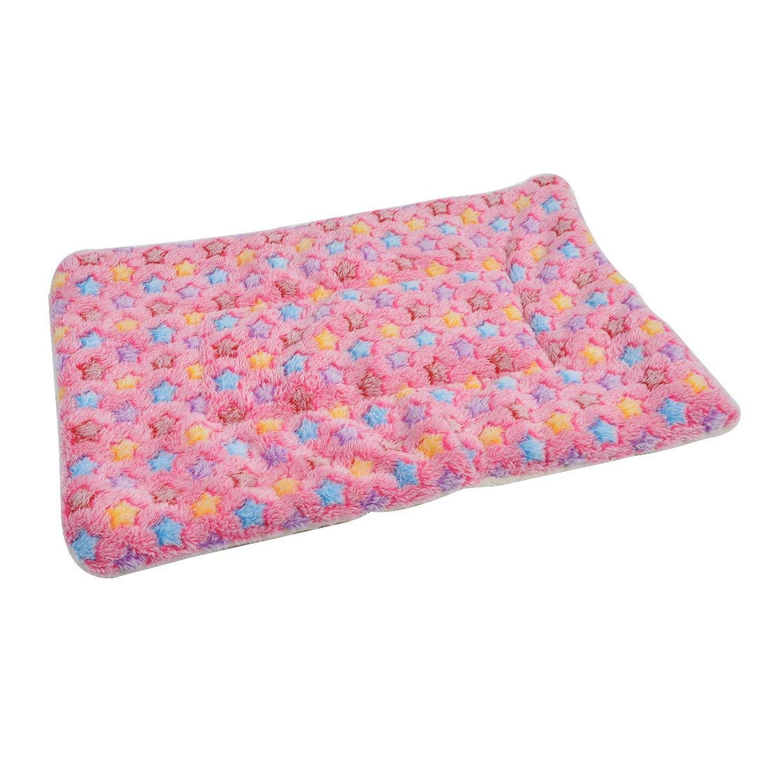 Flannel Star Print Pet Doggy Cat Bed Cushion Soft Warm Sleep Mat Dog Blanket S colorful