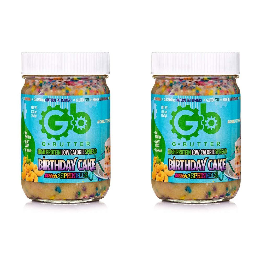 G Butter High Protein Low Calorie Spread - Birthday Cake (2 Pack) by G Butter