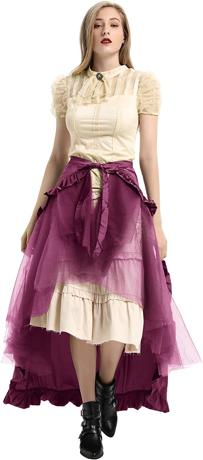 Belle Poque Donna Steampunk Gonna Gothic Gypsy Lace Gonne IT205
